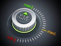 Web traffic button pointing maximum. 3D illustration Royalty Free Stock Photos
