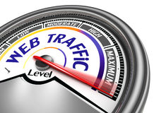 Web traffic conceptual meter Royalty Free Stock Images