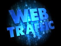 Web Traffic on Dark Digital Background. Stock Photography