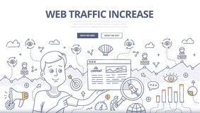 Web Traffic Doodle Concept stock illustration