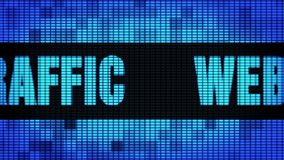 Web Traffic Front Text Scrolling LED Wall Pannel Display Sign Board stock illustration