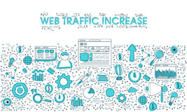 Web Traffic Increase elements. Royalty Free Stock Photo