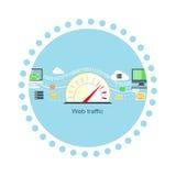Web Traffic Internet Icon Flat Isolated Royalty Free Stock Image