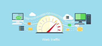 Web Traffic Internet Icon Flat Isolated Stock Photos