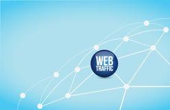 Web traffic link network illustration Royalty Free Stock Photos