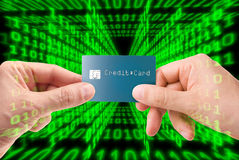 Web Transaction. Credit card transaction on the web Royalty Free Stock Photography