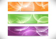 Web transparent headers collection Stock Photos
