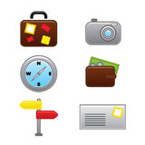 Web travel vacation icons collection Stock Photo