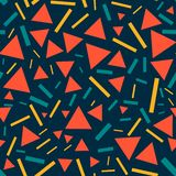 Triangles and lines - seamless pattern. stock illustration
