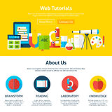 Web Tutorials Flat Web Design Template Royalty Free Stock Images