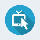 Web tv icon Royalty Free Stock Image