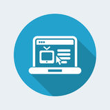 Web Tv site icon. Web Tv site vector icon royalty free illustration
