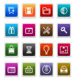 Web-u. Internet-Ikonen 2 - Aufkleberserie Lizenzfreies Stockfoto