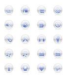 Web-u. Internet-Ikonen (Vektor) Stockbilder