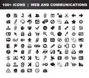 Web- u. Kommunikationsikonen Stockfoto