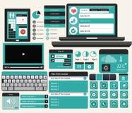 Web UI Concept Blue version Stock Image