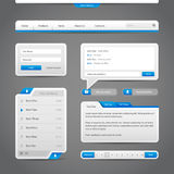 Web UI Controls Elements Gray And Blue On Dark Background Royalty Free Stock Photography