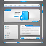 Web UI Controls Elements Gray And Blue On Dark Background Royalty Free Stock Photos