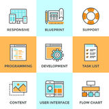 Web and UI develop line icons set Royalty Free Stock Images