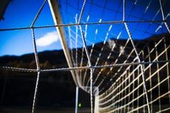 Web in un campo di calcio fotografie stock