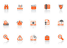 Web- und Büroikonen Lizenzfreies Stockfoto