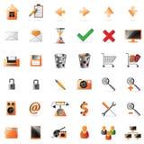 Web- und Multimediaikonen Lizenzfreies Stockfoto