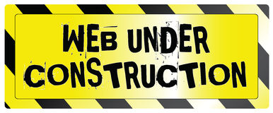 Web under construction Royalty Free Stock Image