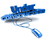 Web Under construction in blue Royalty Free Stock Photography