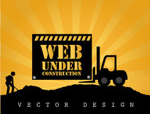 Web under construction Royalty Free Stock Photography