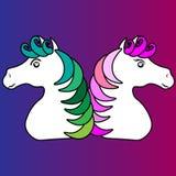 web Unicornio lindo con las estrellas, tarjeta de la historieta del vector de felicitaci?n ilustración del vector