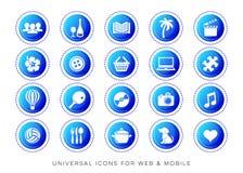 Web universal do lazer e ícones móveis Imagens de Stock