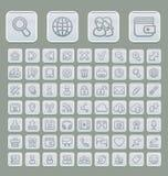 Web universel Grey Edition mou réglé par icônes Photographie stock