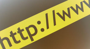 Web url background. A black and yellow illustration of a web address Royalty Free Stock Images