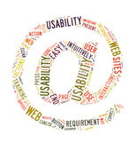 Web Usability word cloud isolated Royalty Free Stock Photo