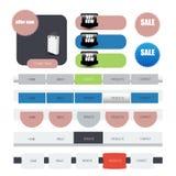 Web user interface element .. Illustration of Web user interface element .  design Stock Image