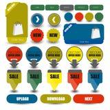 Web user interface element .  Royalty Free Stock Photo