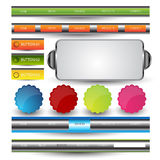 Web user interface element . vector Royalty Free Stock Photo