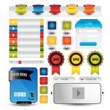 Web user interface element . vector. Illustration of Web user interface element . vector design Royalty Free Stock Photos