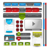 Web user interface element . vector. Illustration of Web user interface element . vector design Stock Photography