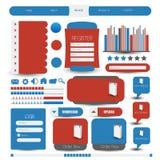 Web user interface element . vector Royalty Free Stock Photos