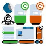 Web user interface element . vector Stock Photos