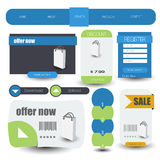 Web user interface element . vector Stock Images