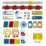 Web user interface element . vector. Illustration of Web user interface element . vector design Stock Images