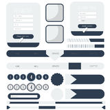 Web user interface element . vector Royalty Free Stock Photos