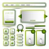 Web user interface elements Stock Photo