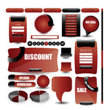 Web user interface elements Royalty Free Stock Photography