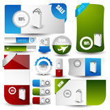 Web user interface elements Stock Photo