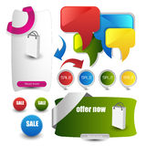 Web user interface elements Royalty Free Stock Photos