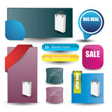 Web user interface elements Stock Images