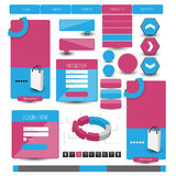Web user interface elements Royalty Free Stock Images
